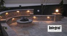 brick patio with fire pit design ideas  | Tulsa Paver Patio Design | Outdoor Living Space Design
