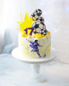 Tarta Dragon Ball, Man Birthday, Birthday Cake, Soccer Cake, Sport Cakes, Cake Delivery, Cakes For Boys, Buttercream Cake, Mini Cakes