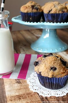Delicious Muffins - Whole Wheat Blueberry Muffin Recipe