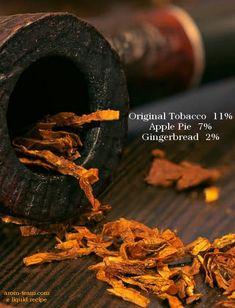 Un e liquide DIY tabac gourmand teinté de dessert de pomme et de gingembre. Un nectar!