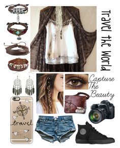 """""""Travel. Go everywhere."""" by renee-love on Polyvore featuring Bling Jewelry, Zodaca, Casetify, Converse and Eos"""