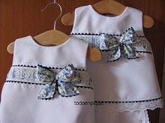 Looks like something my little sister wore in 1965 My Little Girl, Little Girl Dresses, Girls Dresses, Sewing For Kids, Baby Sewing, Baby & Toddler Clothing, Toddler Girl, Baby Girl Pants, Moda Vintage