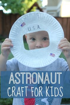 Astronaut Photo Craft for Kids From Toddler Approved Space Activities For Kids, Space Preschool, Toddler Activities, Space Theme For Toddlers, Outer Space Crafts For Kids, Preschool Alphabet, Steam Activities, Preschool Lessons, Daycare Crafts