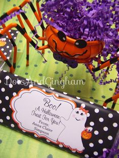 Halloween Printable Candy Bar Wrapper-Halloween Ghost Candy Bar Wrapper-Ghost Girl Candy Wrapper-Printable Halloween Ghost Candy Wrapper. $6.00, via Etsy.
