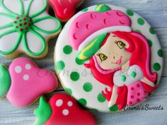 Strawberry Shortcake cookies by Emma's Sweets
