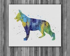 Wall Prints – German Shepherd dog Printable, print, art, Poster – a unique product by Irene913 on DaWanda