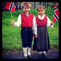 The National Day of Norway is celebrated across the Northern country annually on May 17th. See all the traditions and celebrations on the streets of Oslo and other cities here on Skylines: http://skln.es/KytgId. This picture of two children dressed in 'bunad' (traditional clothing) was posted to Twitter by @GryMolland on May 17, 2012.