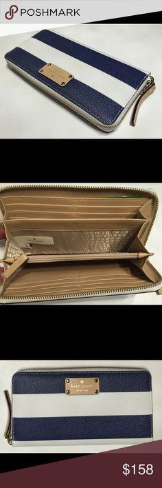 Kate Spade Wellesley Printed Neda Navy Stripes Kate Spade Wellesley Printed Neda Navy Stripes kate spade Bags Wallets