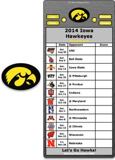 Free 2014 Iowa Hawkeyes Football Schedule Widget for Mac OS X - Let's Go Hawks! - National Champions 1958  http://riowww.com/teamPages/Iowa_Hawkeyes.htm
