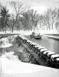 Jan 1949 - Low water bridge in Brackenridge Park. 5 inches of snow left this unique scene. Brackenridge Park, Texas History, Historical Photos, San Antonio, Past, Scene, Snow, World, Places