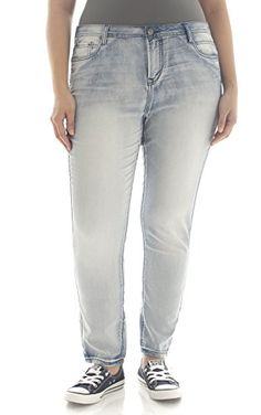 Explorer Distressed Skinny Plus Size Harley Jean | Fashion Bug ...
