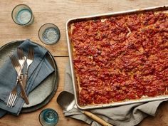 Get Sheet-Pan Glazed Meat Loaf Recipe from Food Network. Cooks much faster for a weeknight dinner!
