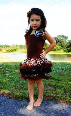 Animal Print Party Dress on Etsy, $28.00
