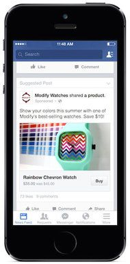 """Facebook said its new """"Buy"""" feature will allows users to make purchases from businesses directly from within the social network."""