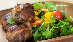 Beef & Bacon Sliders with Pumpkin Salad