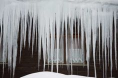 Icicles hang from a roof in Hochfilzen, Austrian province of Tyrol, on Monday, Feb. 6, 2012. Europe was hit by a cold spell with temperatures plummeting far below the freezing point. (Kerstin Joensson / AP) stamfordadvocate