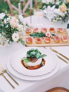 Wedding Entrees, Wedding Canapes, Mod Wedding, Wedding Shoot, Summer Wedding, Reception Table, Wedding Reception, Reception Ideas, Silk And Willow