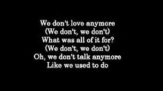 we don't talk anymore lyrics - YouTube