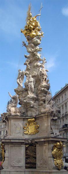 Colonne de peste - Vienne (Autriche) Travel Around The World, Around The Worlds, Europe Centrale, Visit Austria, Belle Villa, Europe Photos, Religion, Destinations, Vienna