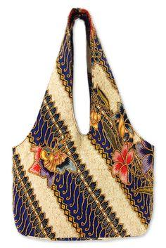 UNICEF Market | Handcrafted Fair Trade Batik Beaded Cotton Shoulder Bag - Sultan Intricacy