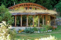 natural home with living roof