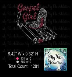 Gospel Girl Rhinestone Digital Download MFA