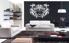Tiger Tattoo Sticker Wall Vinyl Tiger Animal Mural Decal Decor Gift #221 #HomeOfStickers