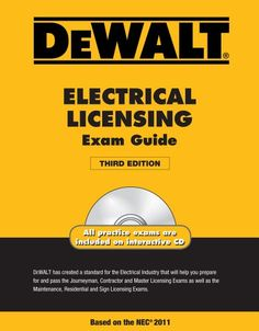 DEWALT Electrical Licensing Exam Guide, Based on the NEC ... https://www.amazon.com/dp/1111545502/ref=cm_sw_r_pi_dp_NU0Bxb2G9AMR1
