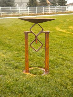 Visualy attractive bird bath made from found by Backwardview, $125.00