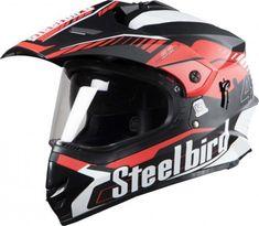92d75ecf Steelbird Off Road Racing Helmet Airborne Glossy Finish with Plain Visor