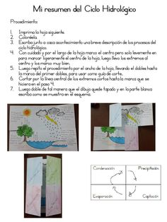 Cuaderno Interactivo Ciclo del Agua (6) Social Science, Homeschool, Sistema Solar, File Folder, Students, Pdf, Geography, Notebook, Molde
