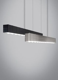 """BIZA linear suspension Inside sit 40w atts of field-replaceable LED strips  46.26""""L x 3.29""""T"""
