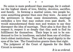 Justice Kennedy: No union is more profound than marriage