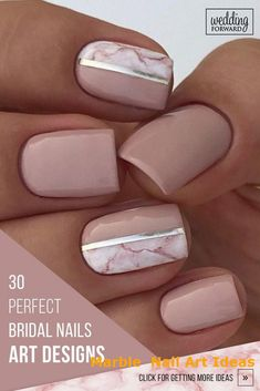 art design 30 Perfect Bridal Nails Art Designs Whichever type of bride you are. If you are still searching for the perfect bridal nails design, pull totally fresh inspiration from our wedding gallery. Nail Art Designs, Bridal Nails Designs, Bridal Nail Art, Marble Nail Designs, Marble Nail Art, Wedding Day Nails, Wedding Nails Design, Manicure, Gel Nails