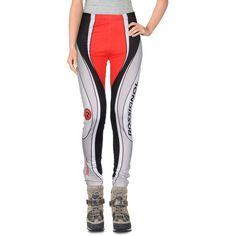 Rossignol Leggings ($77) ❤ liked on Polyvore featuring pants, leggings, red, slimming leggings, colorful print leggings, colorful leggings, print leggings and red white leggings