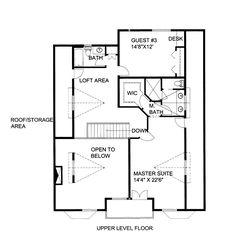 Second Floor Plan of House Plan 85365