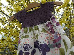 tuto gratuit robe à empiècement tricot 2-4 ans