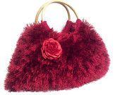 knitted fur handbag