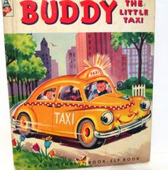 Vintage Buddy The Little Taxi 1950s Vintage by BusyGirlVintage