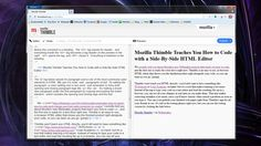 Thimble won't teach you HTML directly—you'd still want to have something like W3Schools or Code Academy on hand—but it's a tool that makes learning a lot easier. Instead of having to type your code in a text editor and load the resulting file up in a browser, you can see all your changes in real time as you make them.
