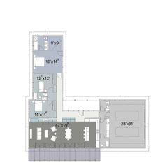 Ranch Style House Plan - 3 Beds 2.5 Baths 2405 Sq/Ft Plan #445-3 Floor Plan - Main Floor Plan - Houseplans.com