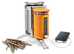 Portable Stove Charges Your Phone Anywhere
