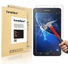 Samsung Galaxy Tab A 7.0'' (SM-T280N / T285N) Protector de Pantalla Cristal, iVoler® Film Protector de Pantalla de Vidrio Templado Tempered Glass Screen Protector para Samsung Galaxy Tab A 7.0'' 2016 (SM-T280N / T285N) - Dureza de Grado 9H, Espesor 0,30 mm, 2.5D Round Edge-[Ultra-trasparente] [Anti-golpe] [Ajuste Perfecto] [No hay Burbujas]- Garantía Incondicional de 18 Meses - http://complementoideal.com/producto/tienda-socios/samsung-galaxy-tab-a-7-0-sm-t280n-t285n-protec