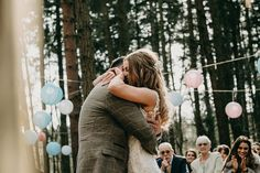 Ellen & Josh's woodland barn wedding at Camp Katur with DIY rustic decor, Maggie Sottero lace wedding dress and ASOS mix matched bridesmaid dresses. Diy Wedding, Wedding Ceremony, Woodland Wedding Venues, Mix Match Bridesmaids, Small Flower Bouquet, Festival Wedding, Father Of The Bride, Boho Bride, Barn