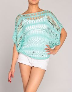 Would love this for the beach!! Crochet Knit Sweater