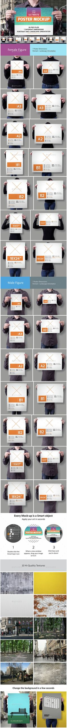 The Ultimate Poster Mockup  #presentation #psd #template • Available here → http://graphicriver.net/item/the-ultimate-poster-mockup/15117541?s_rank=141&ref=pxcr