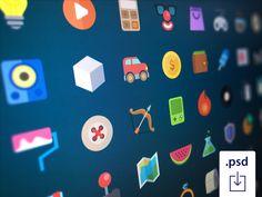 Flat - 48 icons by Deividas Graužinis #icon #design #free #download #freebie