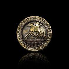 This broach is of Sleipnir...  Odin's eight legged horse...