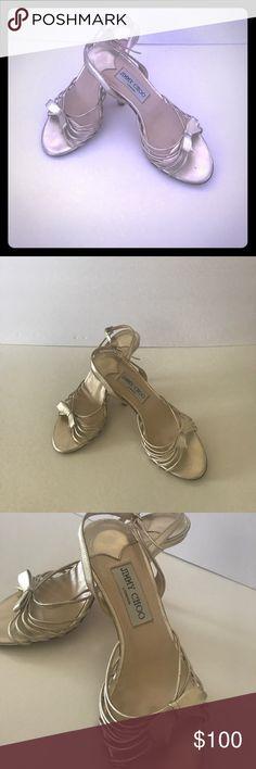 Jimmy Choo London gold heels Jimmy choo slingback gold strappy heels. Size 36 . Small scuff on back of left heel . No dust bag or box Jimmy Choo Shoes Heels