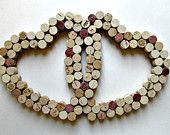 Wine Cork Heart Wall Decor /Bulletin Board by LizzieJoeDesigns